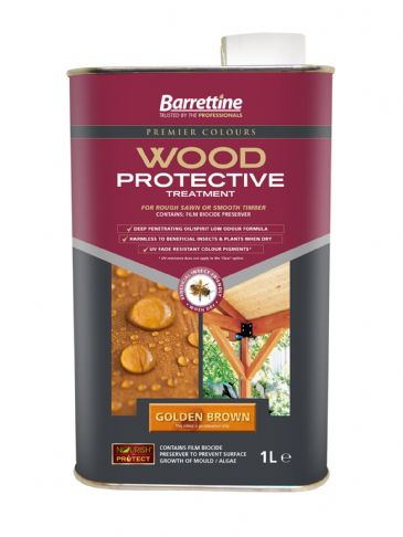 Barrettine wood protector golden brown 1L